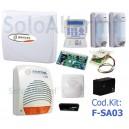 Kit allarme via filo per esterno Pet immune FSA03 con Kyo32