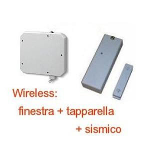 Contatto magnetico wireless per sydra 64 con sensore sismico e tapparella - Contatti magnetici per finestre vasistas ...