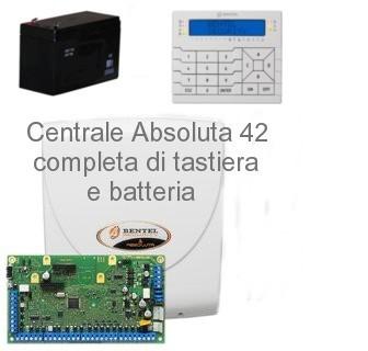 Centrale completa bentel absoluta42 con tastiera premium lcd for Bentel security absoluta