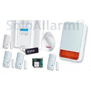Kit allarme via radio 868 MHz bidirezionale con BW64 + gsm