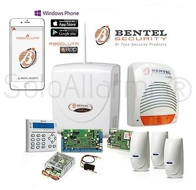 Kit allarme antifurto absoluta bentel via filo immune for Bentel norma 8