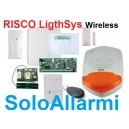 Kit allarme filo+wireless RISCO LightSys completo
