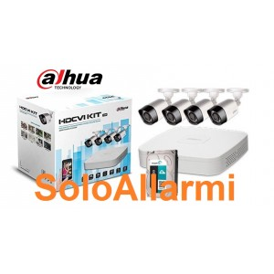 Kit Videosorveglianza DAHUA 8 canali 4 telecamere